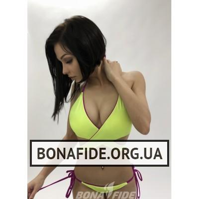 Купальник Bona Fide iPussy (Cyclamen&Acid Yellow)