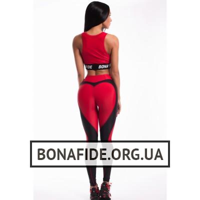 Лосины Bona My Heart Will Go On (Total Black&Red)