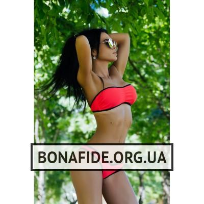 Купальник Bona Fide BrazilianPussy (Coral&Black)
