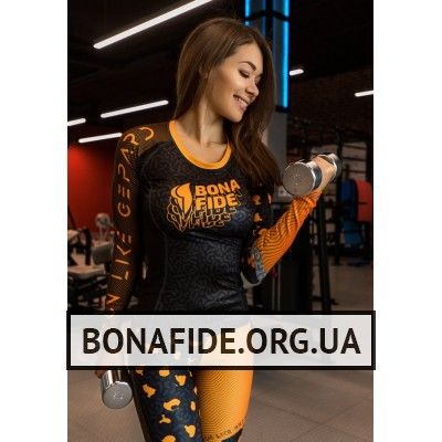 Рашгард Bona Fide Rashguard Round Run Like Gepard (Orange)