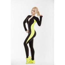 Комбинезон Elite Body (Black&Lime)