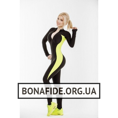 Комбинезон Elite Body (Black&Lime)