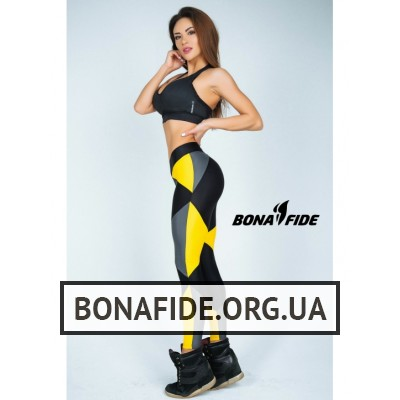 Лосины Bona Fide Joker (Black & Gray &Yellow)