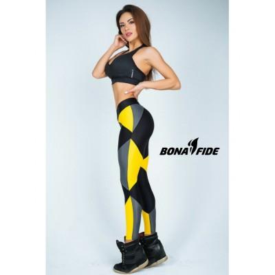 Лосины Bona Fide Joker (Black & Gray &Yellow)