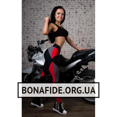 Лосины Bona Fide Joker (Black & Red & Gray)