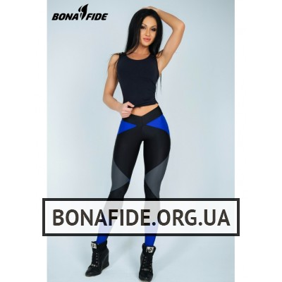 Лосины Bona Fide Joker (Black & Gray & Blue)