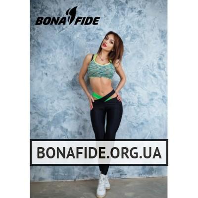 Лосины Bona Fide Agent 00Sex (Black & Acid Green)