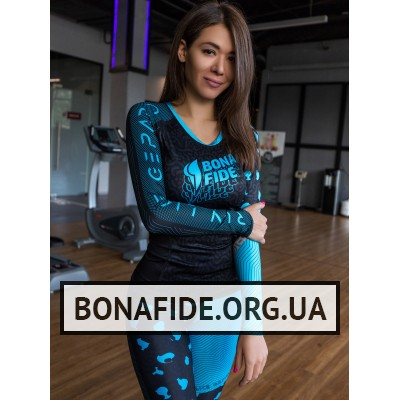 Рашгард Bona Fide Rashguard Round Run Like Gepard (Blue)