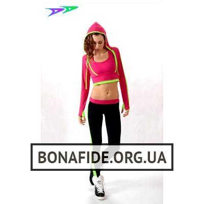 Лосины DjenDance Active (Black-Lime-Pink)