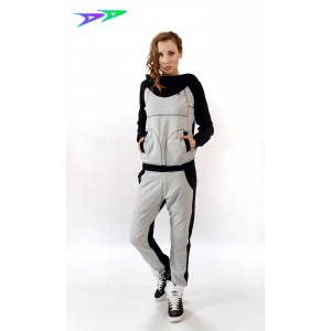 Спортивный костюм DjenDance (Gray and Black)
