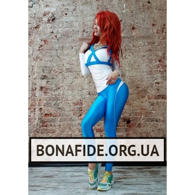 Рашгард X-Bona (White & Blue)
